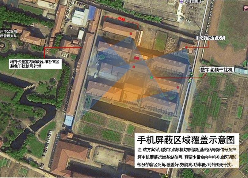 江苏常州某公安局手机信号屏蔽器方案